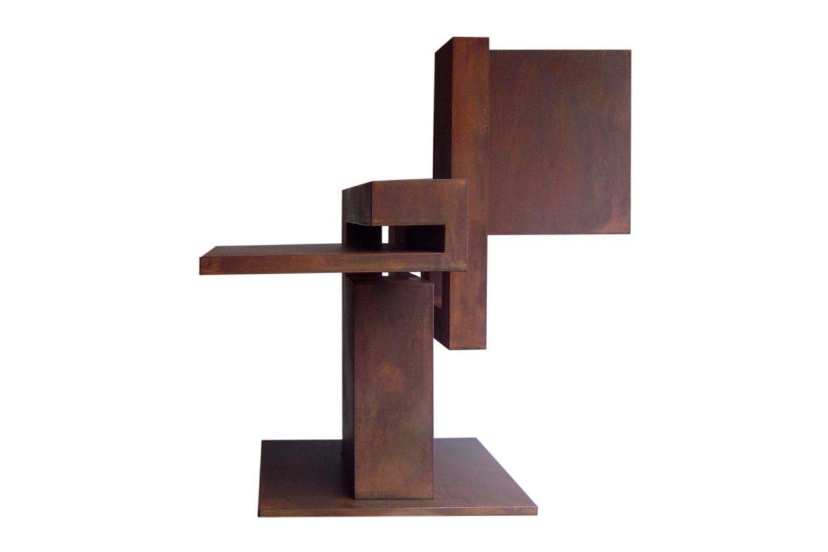 Escultura de acero corten