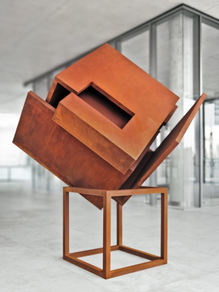 Corten steel sculpture by Arturo Berned