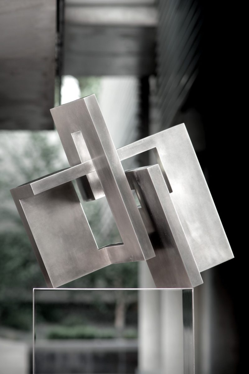 Arturo Berned's work made from polished stainless steel