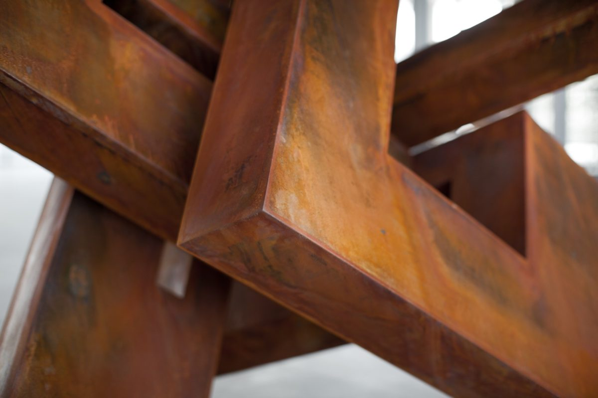 Oxidized corten steel work by Arturo Berned
