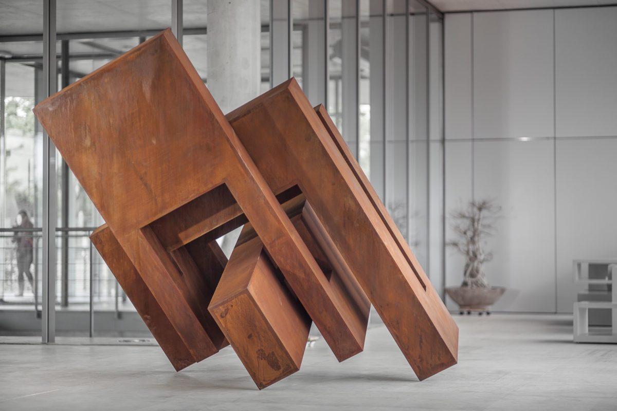 Oxidized corten steel work from spanish sculptor Arturo Berned