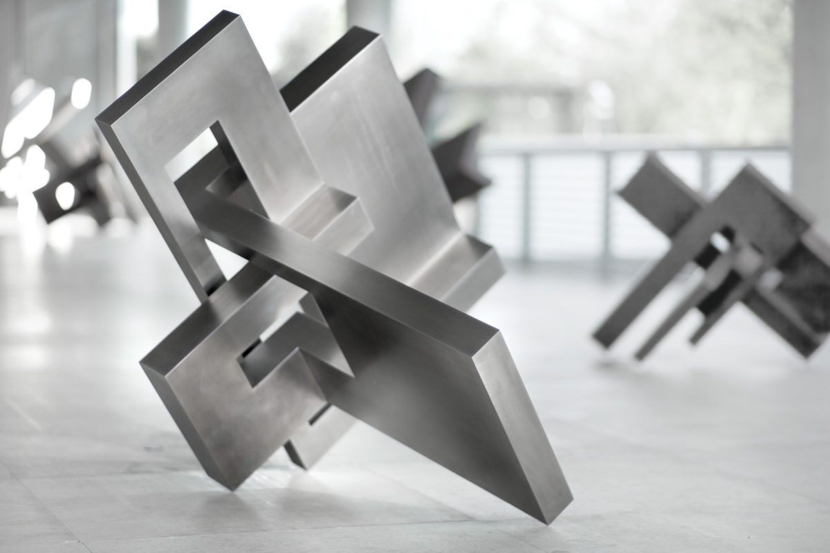 Stainless steel sculpture from Arturo Berned with polished finish