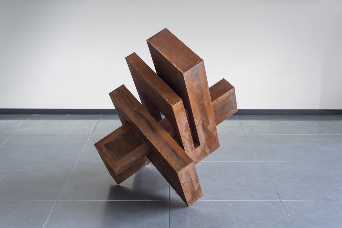 Arturo Berned's work made with oxidized corten steel
