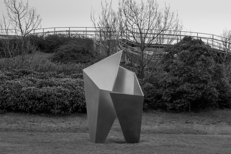 Stainless steel sculpture part of the MU Project. Arturo Berned in collaboration with japanese architect Toyo Ito