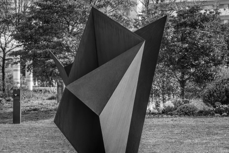 Stainless steel origami by Arturo Berned in collaboration with Toyo Ito