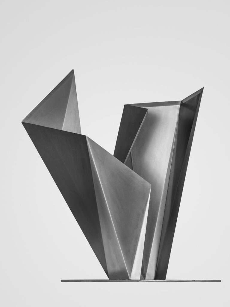 Arturo Berned's sculpture made with stainless steel