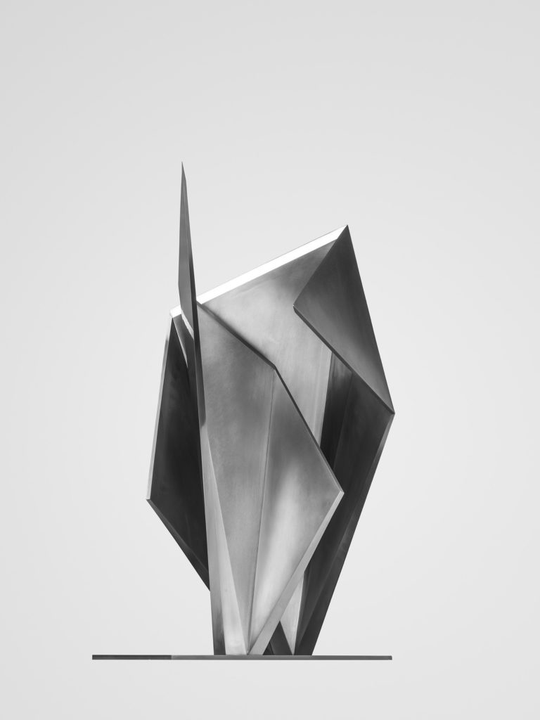 Stainless steel sculpture created in collaboration with japanese architect Toyo Ito