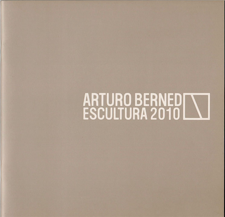 "Book cover for ""Scuplture 2010"" from Arturo Berned"