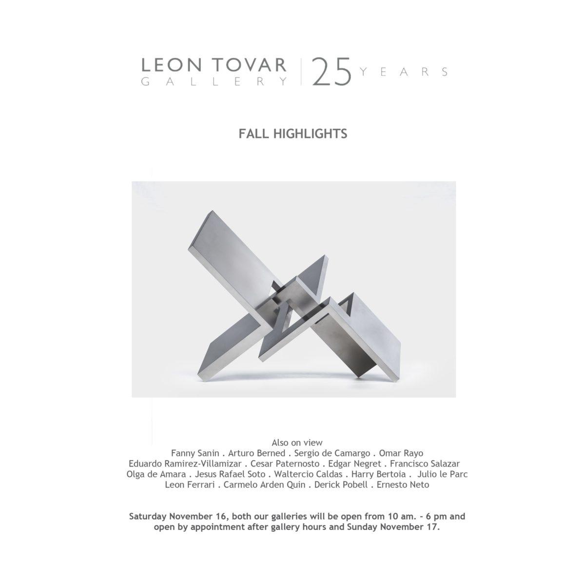 Arturo Berned exhibition in Nueva York at Leon Tovar Gallery