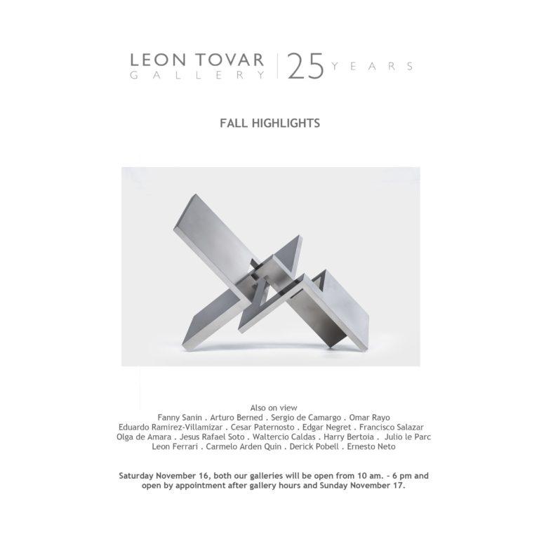 Exposición de Arturo Berned Nueva York Galería Leon Tovar